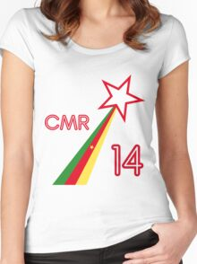 CAMEROON STAR Women's Fitted Scoop T-Shirt