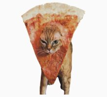 Pizza Cat T-Shirt by CalmSubtlety