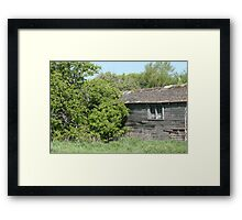 Old Abandoned Barn Falling to Ruin Framed Print