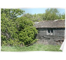 Old Abandoned Barn Falling to Ruin Poster