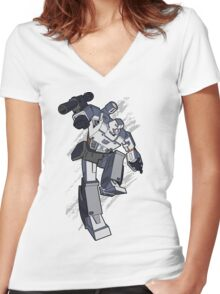 Megatron (2) Women's Fitted V-Neck T-Shirt