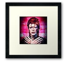Psychedelic Bowie  Framed Print