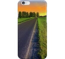 Country road into surreal sundown | landscape photography iPhone Case/Skin