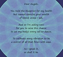 Angel Poem Healing Card by Katherine T Owen, Author