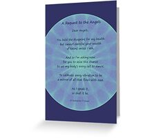 Angel Poem Healing Card Greeting Card