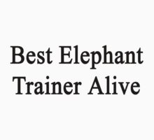 Best Elephant Trainer Alive  by supernova23
