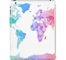 Watercolor Map of the World Map iPad Case/Skin