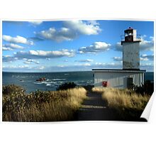 West Quaco Lighthouse & The Bay of Fundy Poster