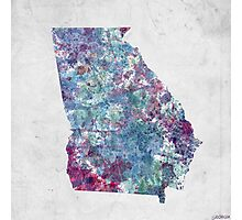 georgia map cold colors Photographic Print