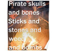 Pirates, Skulls, And Bones Poster