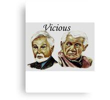 Derek Jacobi & Ian McKellen - Vicious Canvas Print