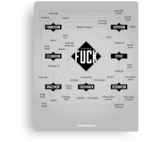 A Taxonomy of Fuck Canvas Print