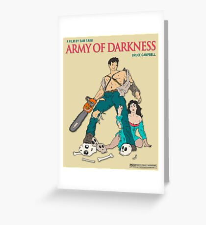 Army Of Darkness - Beige Greeting Card