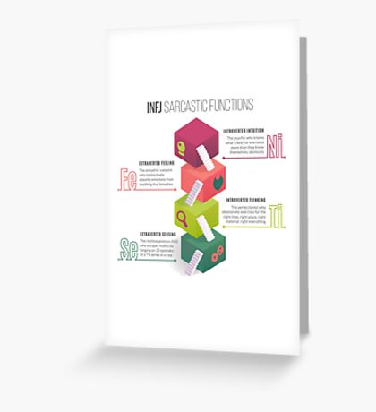 INFJ Sarcastic Functions Greeting Card