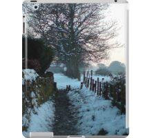 snow on the lane iPad Case/Skin