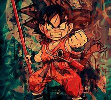 Kid Goku by Deadmansdust
