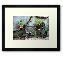 French Bicycle, Confolens Framed Print