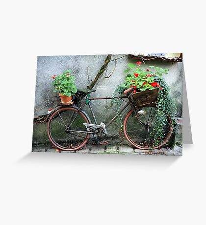 French Bicycle, Confolens Greeting Card