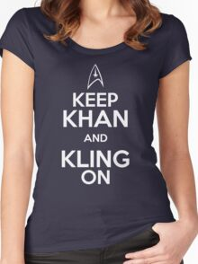 Keep Khan and Kling On Women's Fitted Scoop T-Shirt