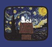 The starry night with Snoopy T-Shirt