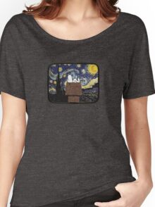 The starry night with Snoopy Women's Relaxed Fit T-Shirt