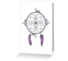 Dreamcatcher Compass Greeting Card