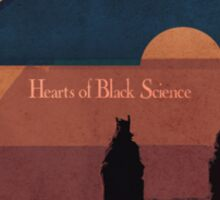 Hearts of Black Science Moon Logo Sticker