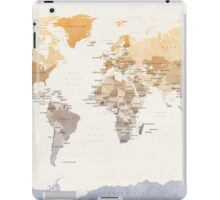 Watercolour Political Map of the World iPad Case/Skin