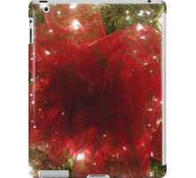 Red Bow on Christmas Tree iPad Case/Skin