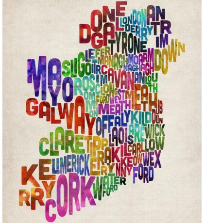 Ireland Eire County Text Map Sticker