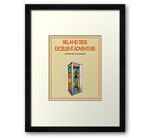 Bill And Ted's Excellent Adventure - Beige Framed Print