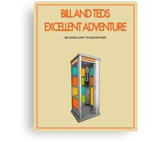 Bill And Ted's Excellent Adventure - Beige Canvas Print