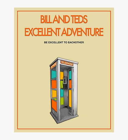 Bill And Ted's Excellent Adventure - Beige Photographic Print