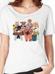 Rockafire- Showbiz Pizza Characters Women's Relaxed Fit T-Shirt
