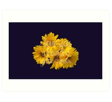 I Love You A Thousand Yellow Daisies Art Print