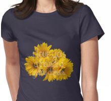 I Love You A Thousand Yellow Daisies Womens Fitted T-Shirt
