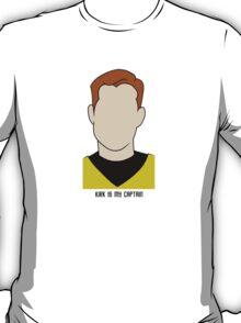 Kirk is my Captain (Dark Text) T-Shirt