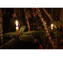 Traditional Christmas candles Photographic Print