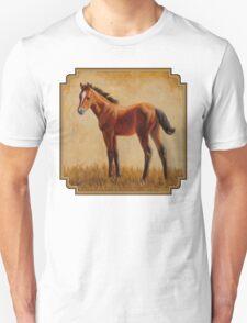Cute Bay Quarter Horse Foal Unisex T-Shirt