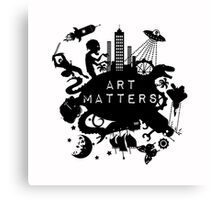Art Matters (Dark) Canvas Print