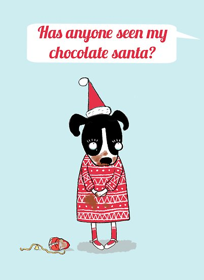NAUGHTY CHRISTMAS DOG by Jane Newland