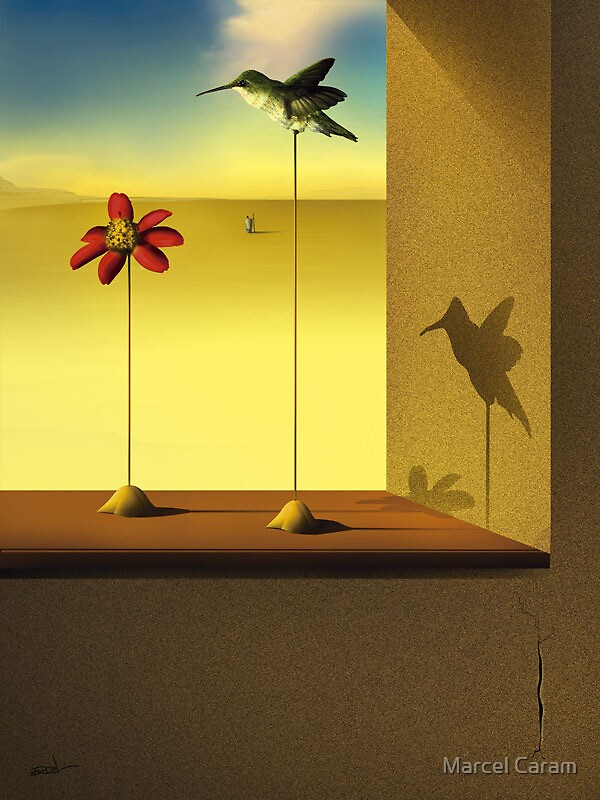 Um Beija-Flor na Janela. by Marcel Caram