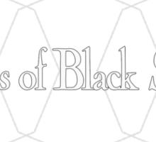 Hearts of Black Science Octagon Logo White Sticker