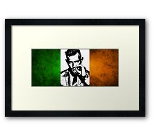 Conor McGregor Irish Flag Framed Print