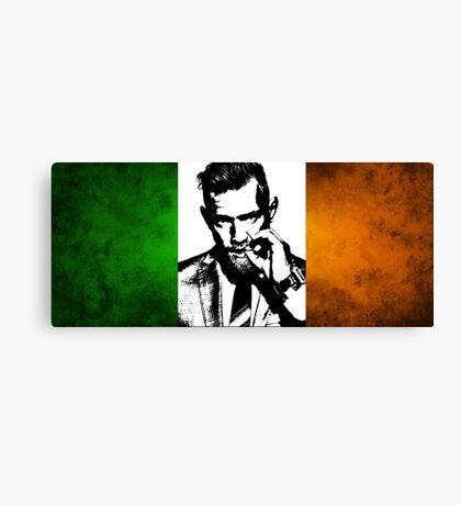 Conor McGregor Irish Flag Canvas Print