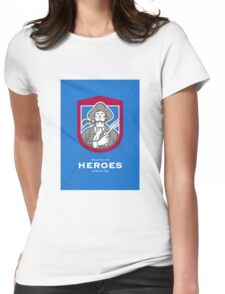 Patriots Day Greeting Card American Patriot With Flintlock Shield Womens Fitted T-Shirt