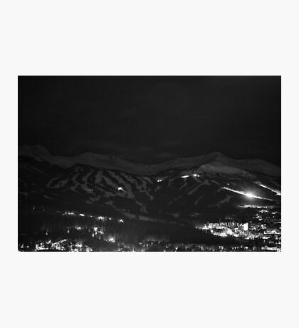Night Mountains in Black and White Photographic Print