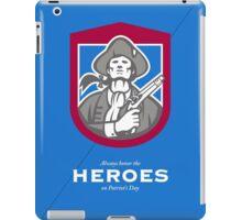 Patriots Day Greeting Card American Patriot With Flintlock Shield iPad Case/Skin
