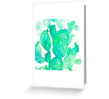 Green Watercolour Cactus Greeting Card