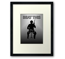 beat this drum Framed Print